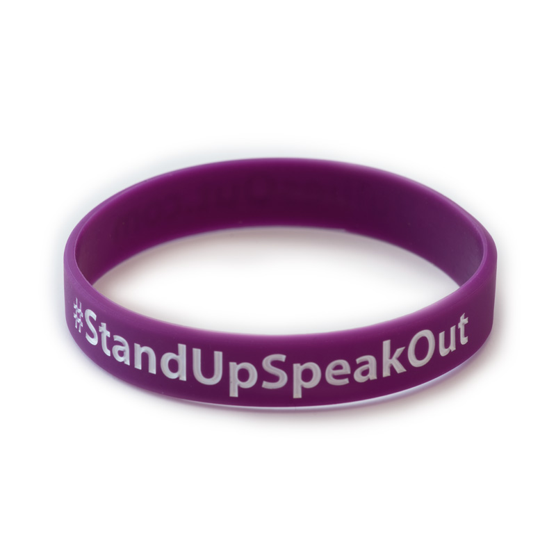 against we test p link bullying bracelet stand united positive silicone