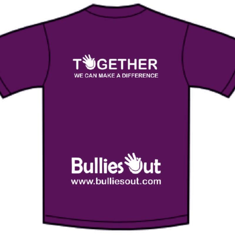purple tshirt back